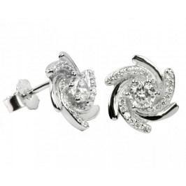 Silver Cat Stříbrné náušnice s krystaly SC042 stříbro 925/1000