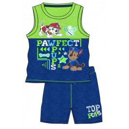 Disney by Arnetta chlapecký letní set Paw Patrol 86 modrá/zelená