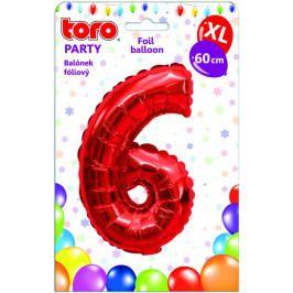 Toro Balónek XL Číslice 6 červená 60 cm