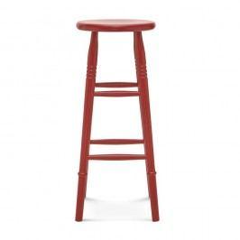 Červená barová dřevěná židle Fameg Iver