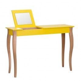 Žlutý toaletní stolek se zrcadlem Ragaba Dressing Table,délka105cm