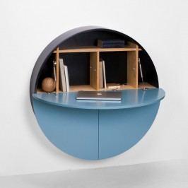 Modro-černý multifunkční nástěnný stůl EMKO Pill
