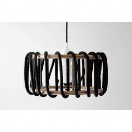 Černé stropní svítidlo EMKO Macaron, ø 30 cm