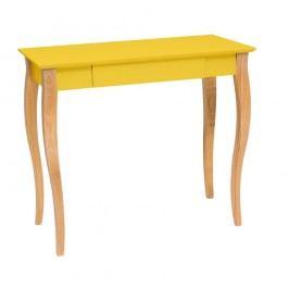 Žlutý psací stůl Ragaba Lillo,délka85 cm