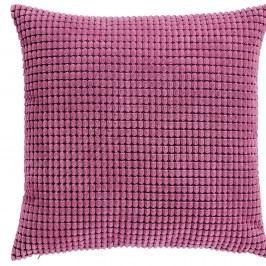 Růžový žebrovaný polštář s výplní 45x45cm
