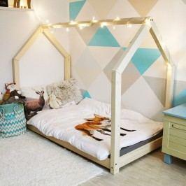 Dětská postel z borovicového dřeva s vyvýšenými nohami a bočnicemi Benlemi Tery, 90 x 200 cm
