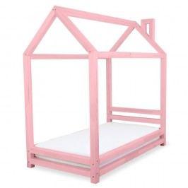 Dětská růžová postel z borovicového dřeva Benlemi Happy,80x200cm