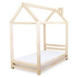 Dětská postel z přírodního borovicového dřeva Benlemi Happy,90x200cm