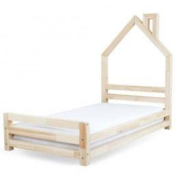Dětská postel z přírodního borovicového dřeva Benlemi Wally,80x180cm