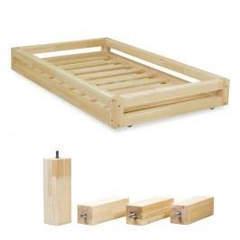 Set přírodní zásuvky pod postel a 4 prodloužených nohou Benlemi,propostel90x180cm