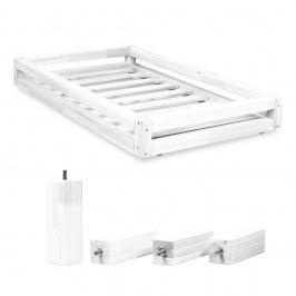 Set bílé zásuvky pod postel a 4 prodloužených nohou Benlemi,propostel80x200cm