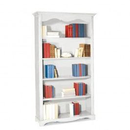 Bílá dřevěná knihovna Castagnetti Torino