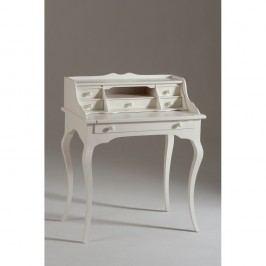 Bílý dřevěný pracovní stůl se 6 zásuvkami Castagnetti Torino