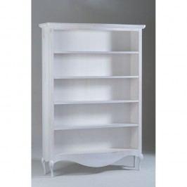 Bílá dřevěná knihovna Castagnetti Adeline