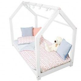 Bílá postel s vyvýšenými nohami a bočnicemi Benlemi Tery, 100x200cm,výška nohou20cm