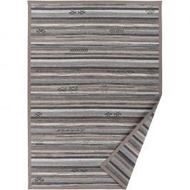 Šedobéžový vzorovaný oboustranný koberec Narma Liiva, 140 x 200cm