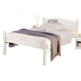 Bílá postel z masivního borovicového dřeva Støraa Barney, 90x200cm