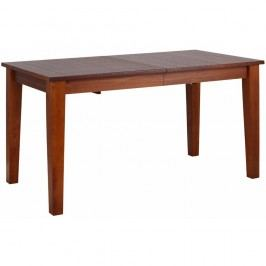 Dřevěný rozkládací jídelní stůl v barvě kaštanového dřeva Støraa Amarillo, 150x76cm