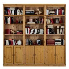 Hnědá knihovna z borovicového masivu Støraa Annabelle, výška 219cm