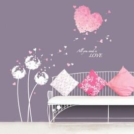 Samolepka Ambiance Pink Hearts