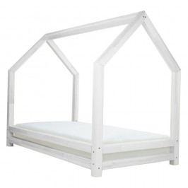Bílá jednolůžková postel z borovicového dřeva Benlemi Funny, 90x160cm