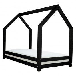 Černá jednolůžková postel z borovicového dřeva Benlemi Funny, 80x200cm