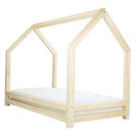 Lakovaná jednolůžková postel z borovicového dřeva Benlemi Funny, 80x200cm