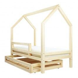 Set přírodní zásuvky a 4 přídavných nohou k posteli Benlemi Funny, 80x180cm