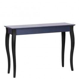 Grafitově šedý konzolový stolek s černými nohami Ragaba Lilo, šířka 105cm