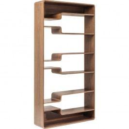 Hnědá dřevená police Kare Design Soft Walnut, 110x219cm