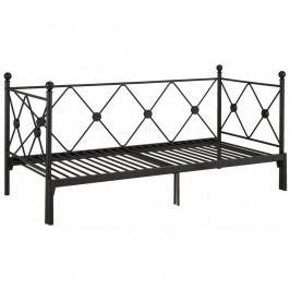 Černá rozkládací jednolůžková postel Støraa Johnson, 90/180x200cm