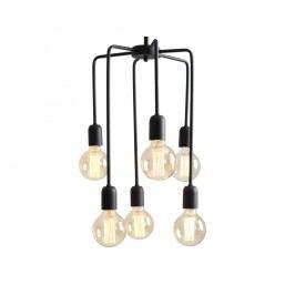 Černé závěsné světlo pro 6 žárovek Custom Form Vanwerk Tall
