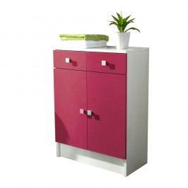 Růžová koupelnová skříňka TemaHome Combi,šířka60cm