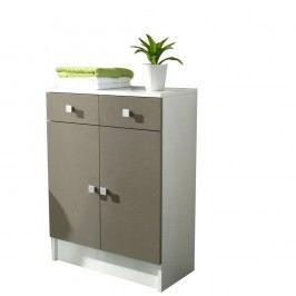 Šedohnědá koupelnová skříňka TemaHome Combi,šířka60cm