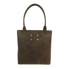 Hnědá kožená kabelka O My Bag Posh Stacey midi