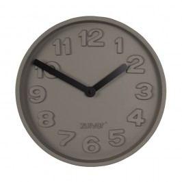 Betonové nástěnné hodiny s černými ručičkami Zuiver Concrete