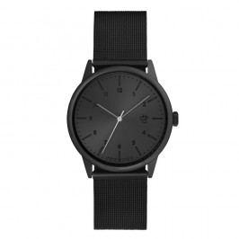Černé hodinky s metalickým ciferníkem CHPO Rawiya