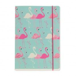 Zápisník A5 Go Stationery Flamingo Aqua