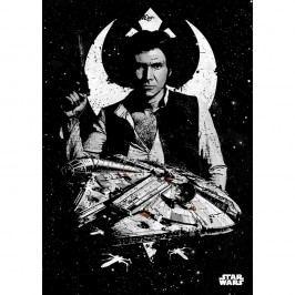 Produkt Nástěnná cedule PosterPlate Star Wars Pilots - Captain Solo Rámečky na fotky a obrazy