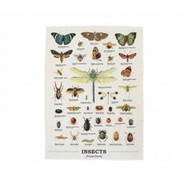 Utěrka z bavlny Gift Republic Insects, 50 x 70 cm