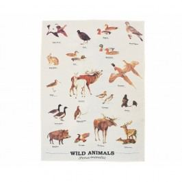 Utěrka z bavlny Gift Republic Wild Animals Multi