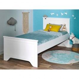 Bílá jednolůžková postel JUNIOR Provence Junior, 90x200cm