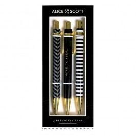 Sada 3 kuličkových per Alice Scott by Portico Designs