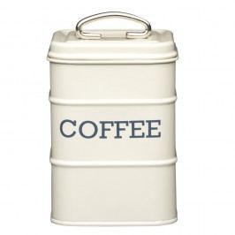 Krémová plechová dóza na kávu Kitchen Craft Nostalgia, 1,2 l
