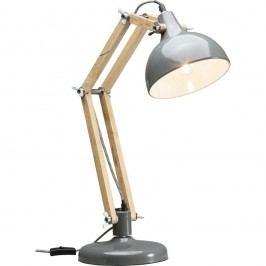 Šedá stolní lampa Kare Design Station