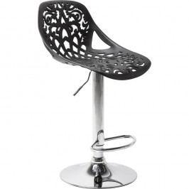Sada 2 černých barových stoliček Kare Design Ornament