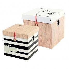 Sada 2 úložných boxů Done by Deer