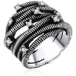 Dámský prsten stříbrné barvy Runaway Metrix, 54