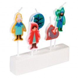 Sada 5 svíček s motivem Červené Karkulky Rex London Red Riding Hood