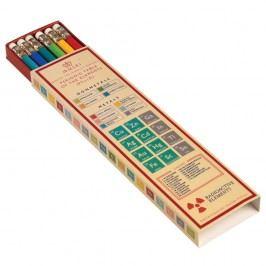 Sada 6 barevných tužek v papírové krabičce Rex London Periodic Table